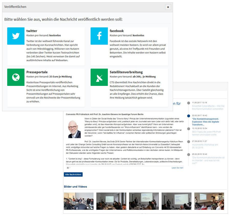 Diskurs Newsroom mit der myconvento Mediendatenbank
