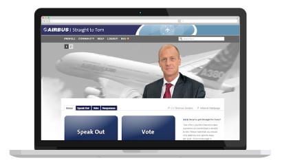 direktzu Dialogplattform Airbus