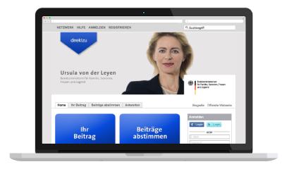 direktzu Dialogplattform Ursula von der Leyen